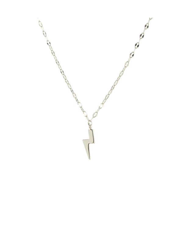 Lightning Bolt Charm Necklace | Gold Silver Pendant Chain | Light Years
