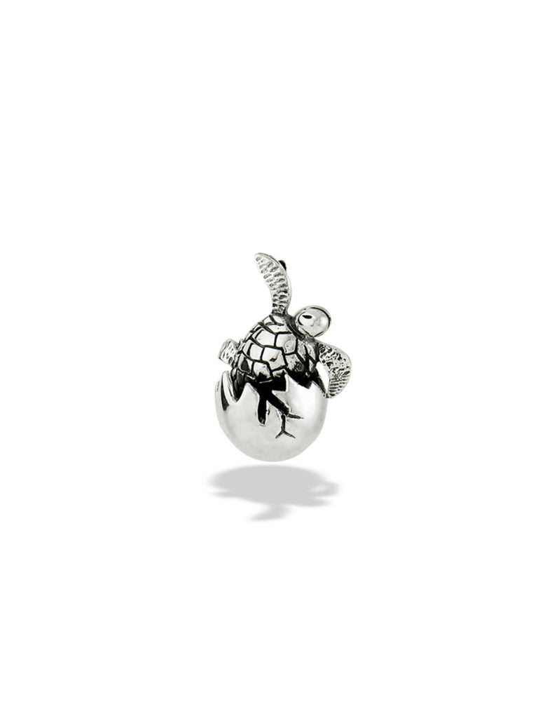 Hatching Turtle Egg Pendant | Sterling Silver | Light Years Jewelry