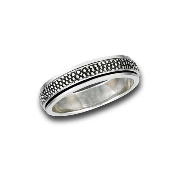 Spinner Band Ring | Sterling Silver Size 7 8 9 10 11 12 | Light Years