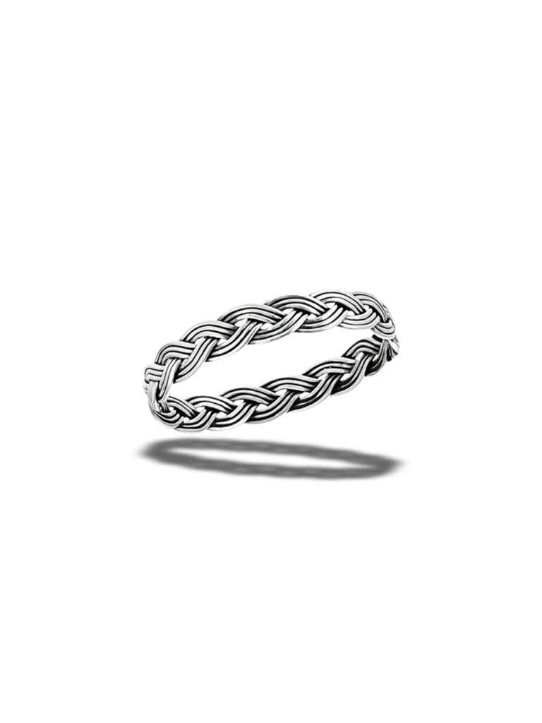 Oxidized Braided Band | Sterling Silver Ring Size 6 7 8 9 10 | Light Years