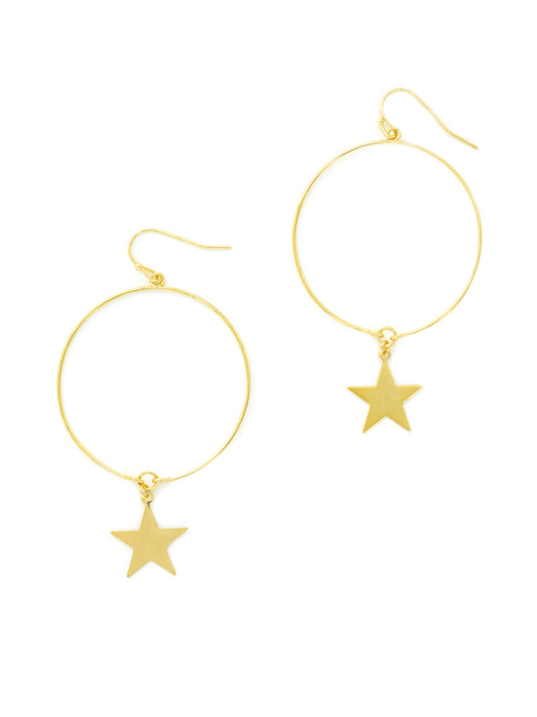 Star & Ring Dangles | Gold Plated Statement Earrings | Light Years