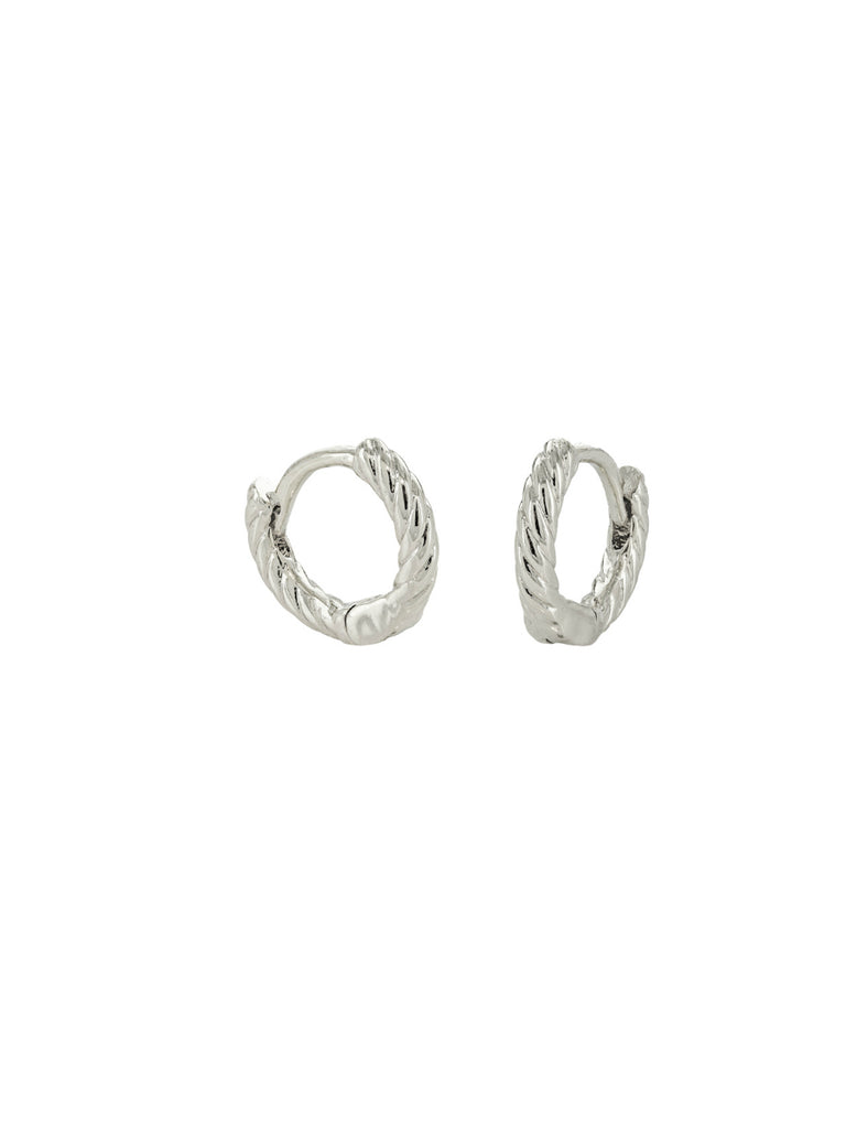 Twisted Huggie Hoops | Gold Silver Plated Earrings | Light Years Jewelry