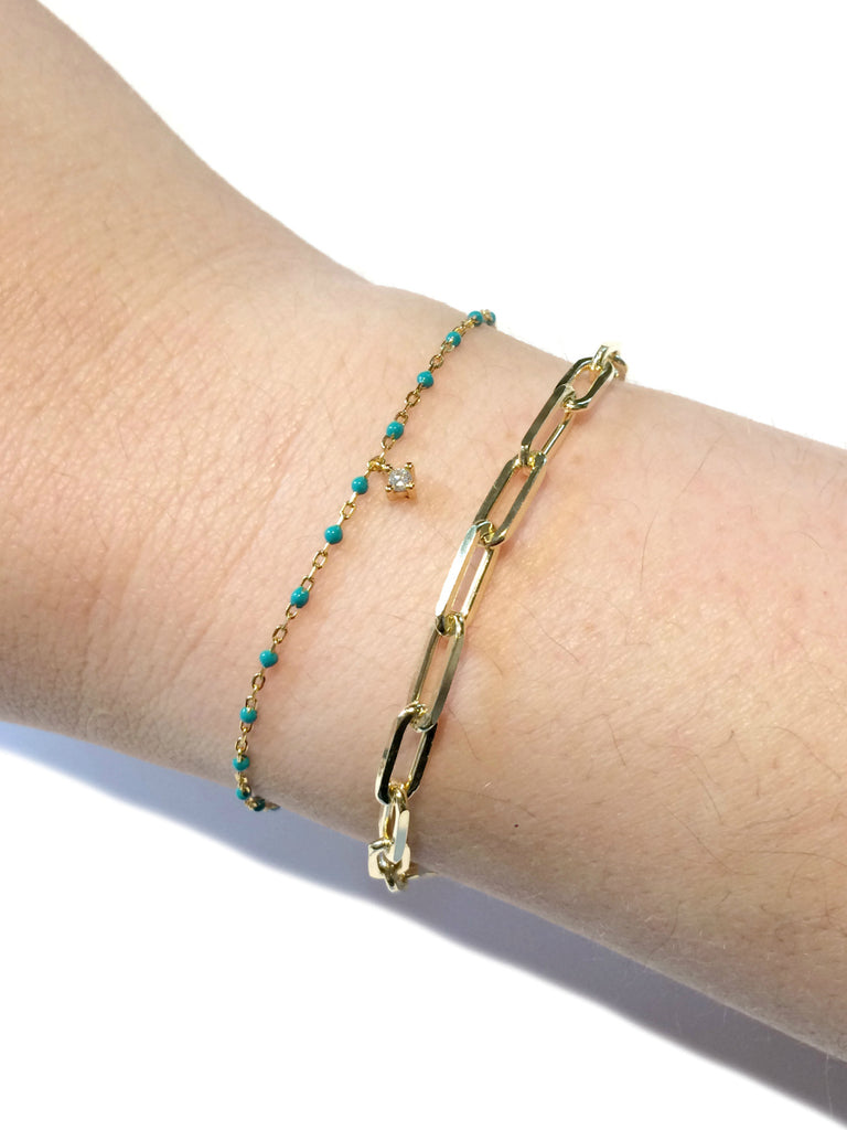 Paperclip Chain Bracelet | Gold Vermeil Links | Light Years Jewelry