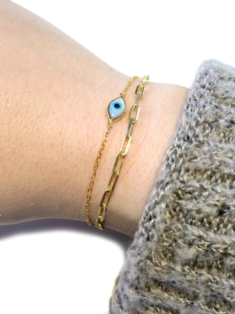 Adjustable Chain Link Bracelet | Gold Vermeil | Light Years Jewelry