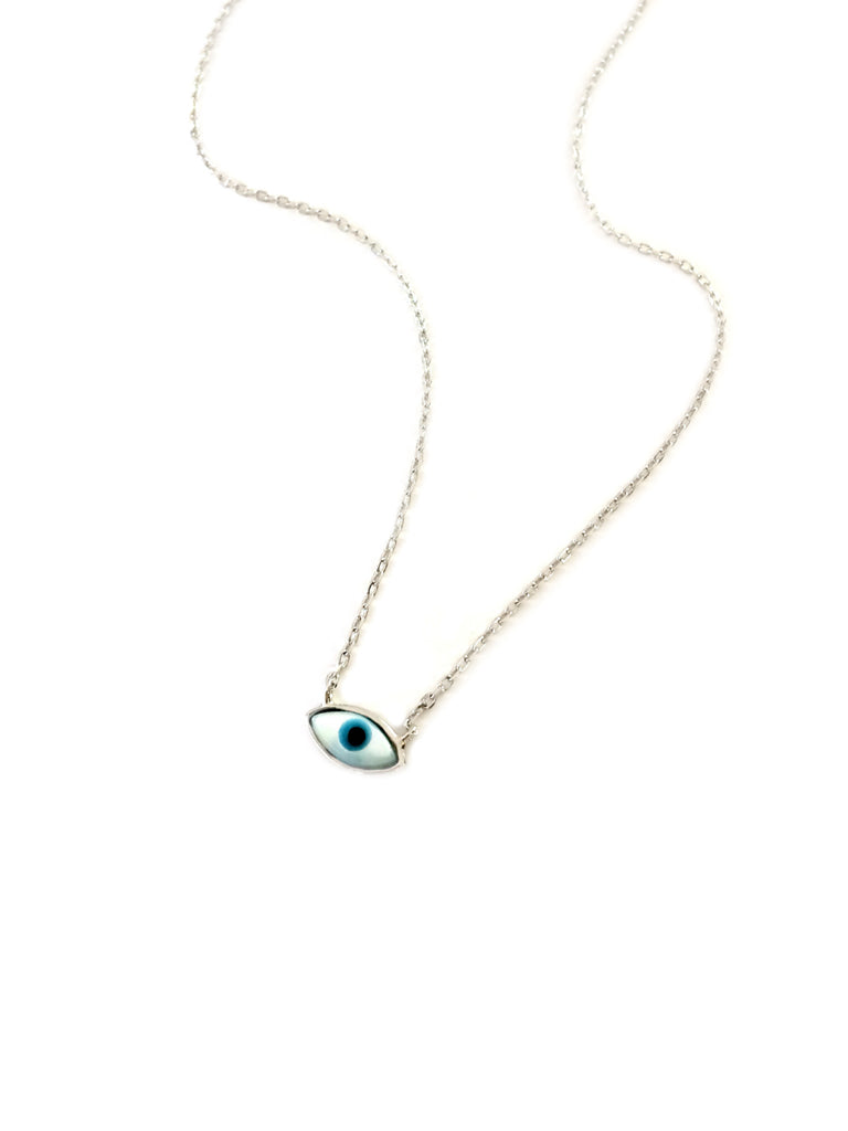 Mother of Pearl Eye Necklace | Sterling Silver Gold Vermeil | Light Years