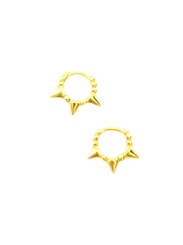Spike Huggie Hoops | Sterling Silver Gold Vermeil Earrings | Light Years