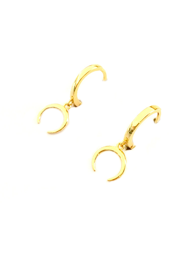 Crescent Moon Huggie Hoops | Gold Vermeil Earrings | Light Years Jewelry