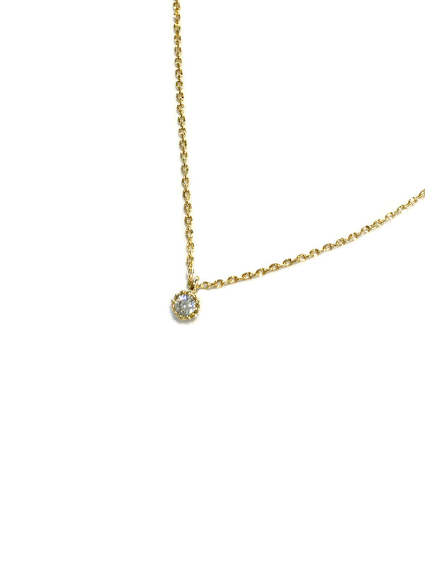 Dainty Clear CZ Necklace | Gold Plated Chain Pendant | Light Years