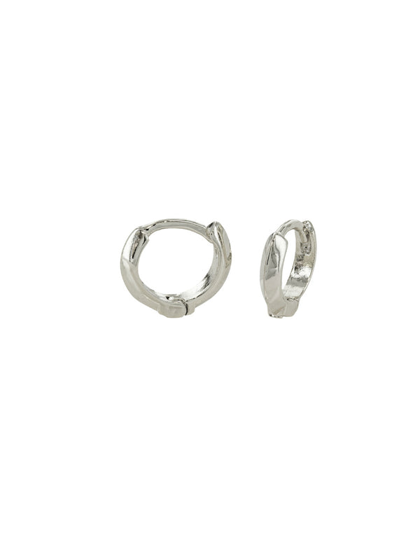 Ridged Huggie Hoops | Silver Gold Plated Earrings | Light Years Jewelry