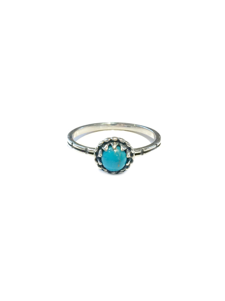 Claw Set Turquoise Ring | Sterling Silver Size 5 6 7 8 9 10 | Light Years