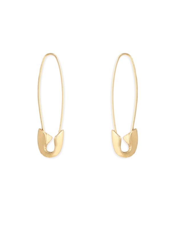 Safety Pin Dangles | Gold Fashion Earrings | Light Years Jewelry