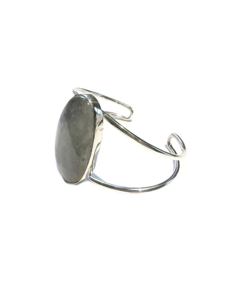 Large Moonstone Cuff | Sterling Silver Bracelet | Light Years Jewelry