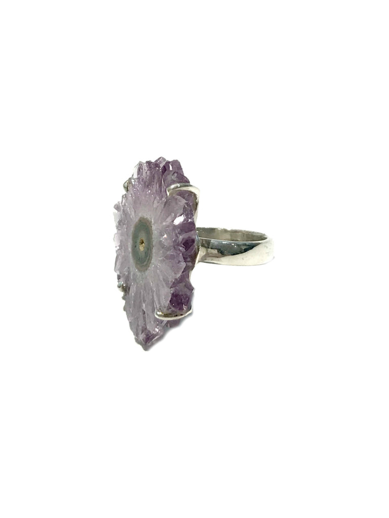 Amethyst Stalactite Ring | Sterling Silver Sizes 7 8 | Light Years