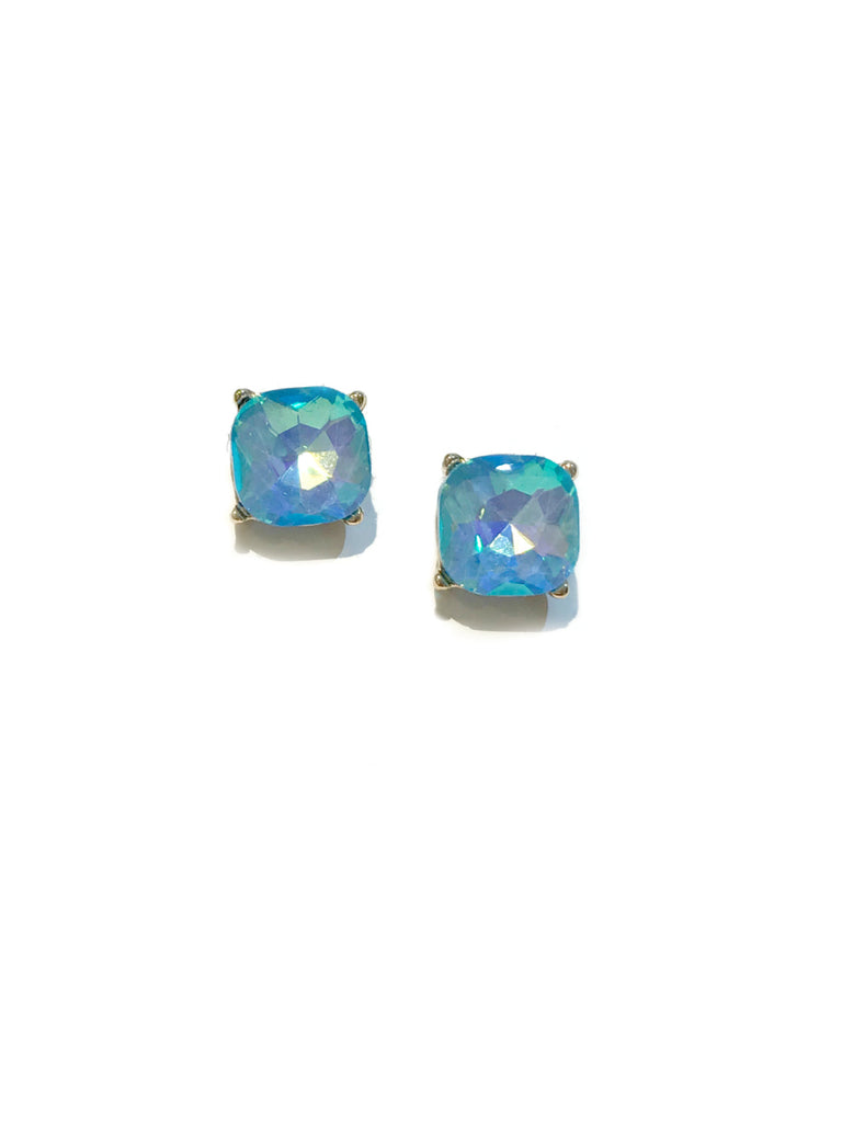Aurora Borealis Crystal Posts | Pink Blue Gold Studs | Light Years