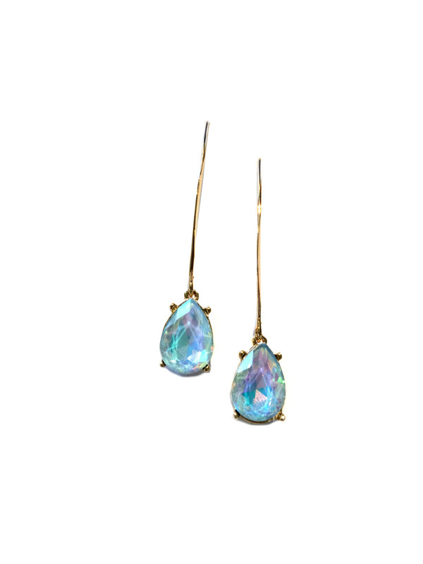 Opalescent Crystal Drop Dangles | Gold Fashion Earrings | Light Years