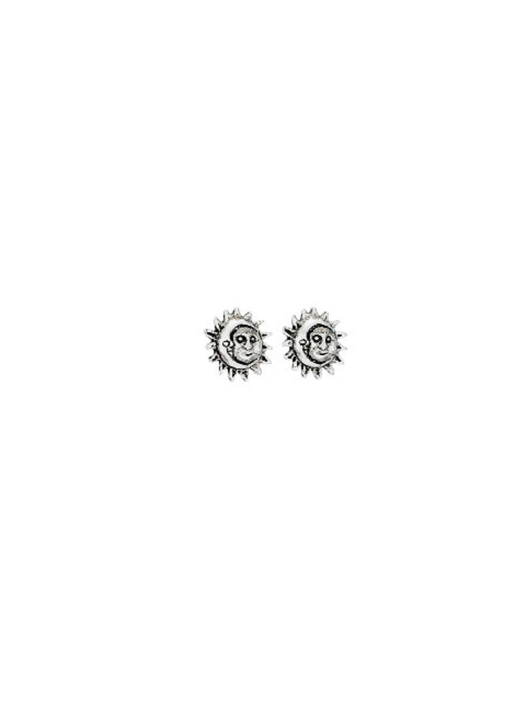 Sun & Moon Posts | Sterling Silver Stud Earrings | Light Years Jewelry