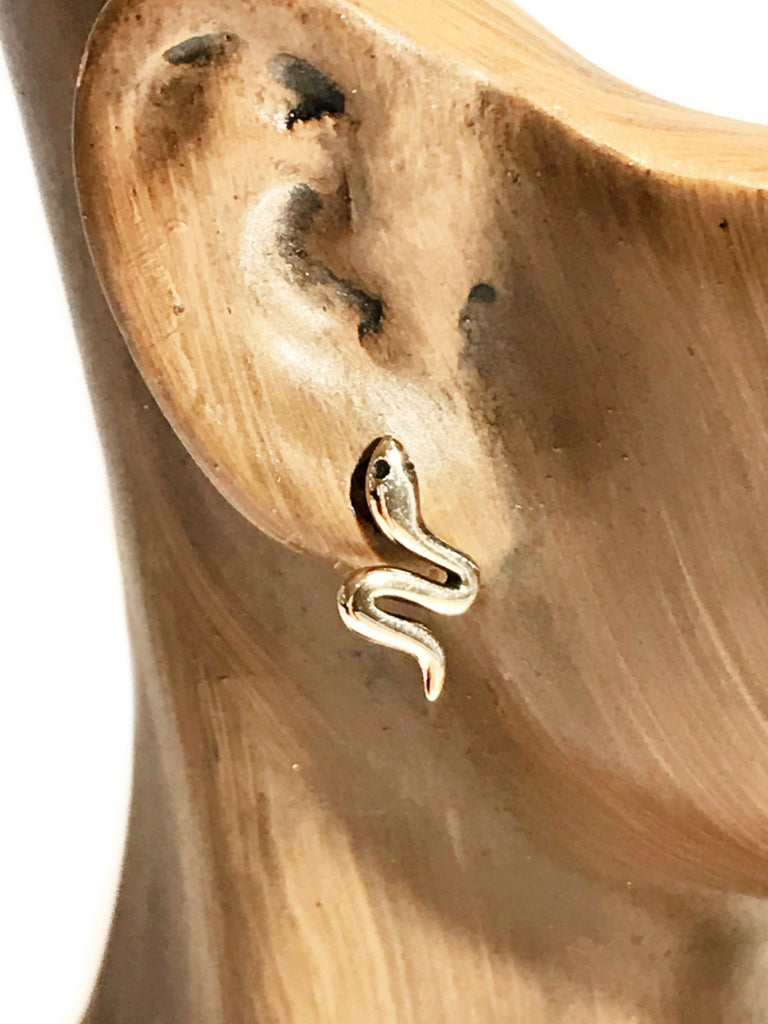 Bronze Snake Posts | Sterling Silver Gold Studs Earrings | Light Years