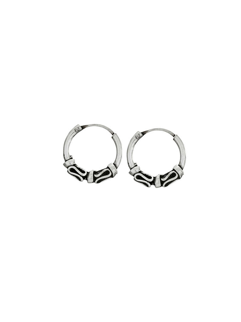 Bali Style Hoops | Sterling Silver Earrings | Light Years Jewelry
