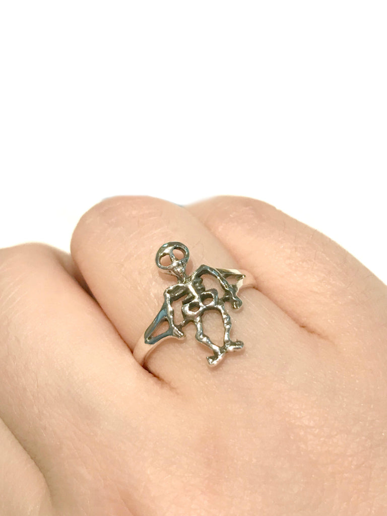 Skeleton Bones Ring | Sterling Silver Size 6 7 8 9 | Light Years Jewelry