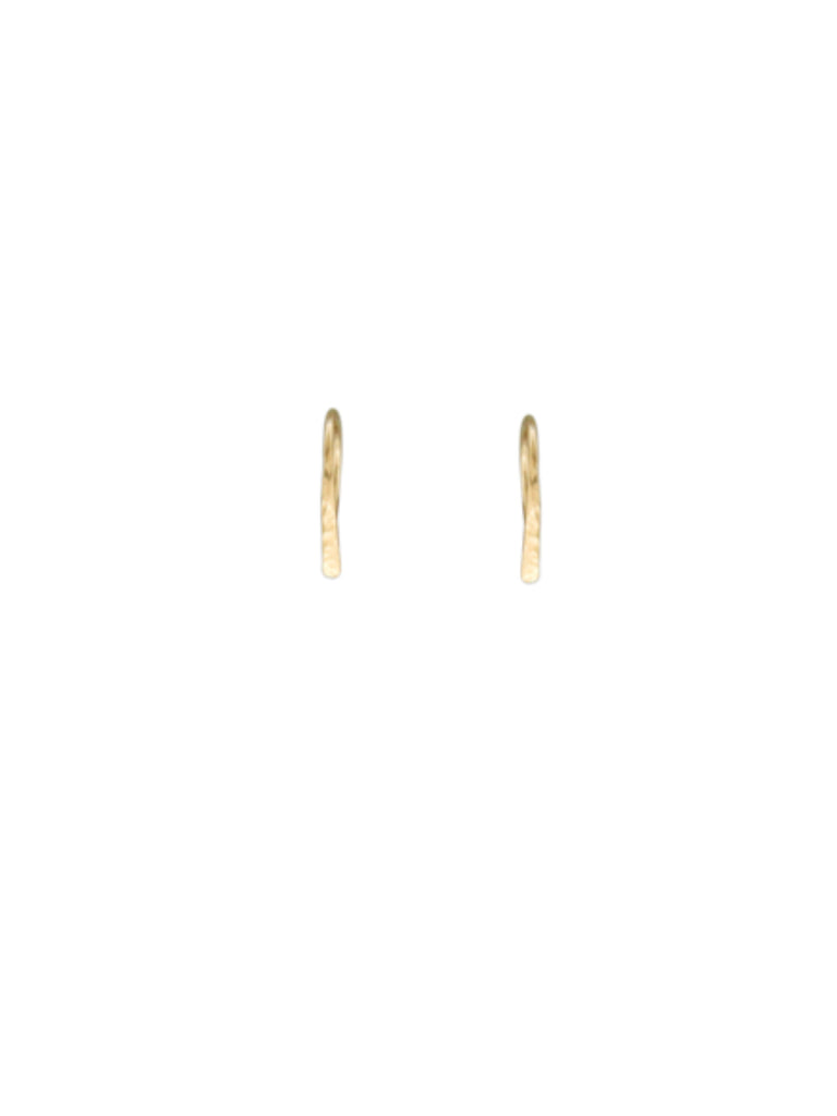Hammered  Ear Threads | Sterling Silver Rose Gold Filled | Light Years