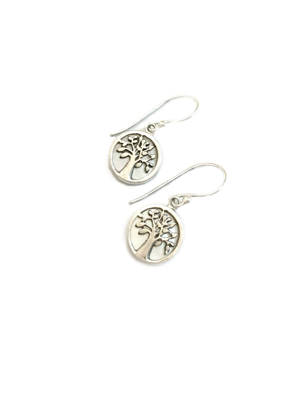 Shell Tree Dangles | Mother of Pearl Sterling Silver Earrings | Light Years