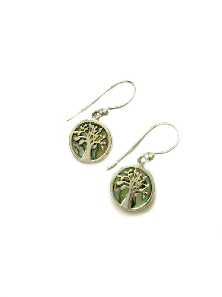 Shell Tree Dangles | Abalone Sterling Silver Earrings | Light Years