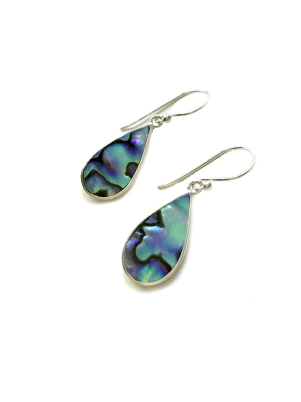 Bali Abalone Teardrop Dangles | Sterling Silver Earrings | Light Years