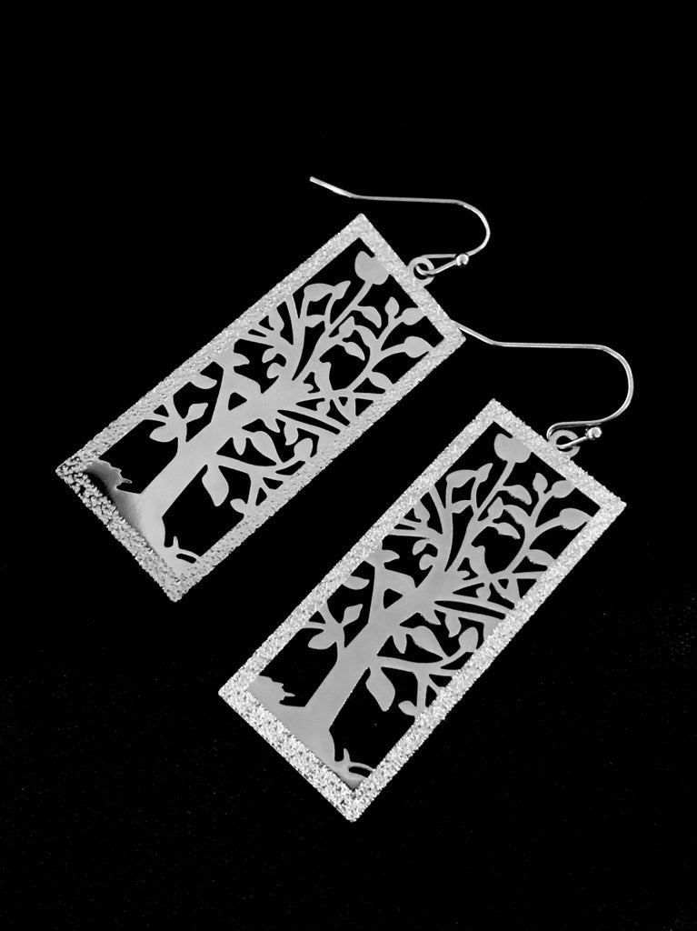 Flowering Tree Dangles | Silver Fashion Earrings | Light Years Jewelry