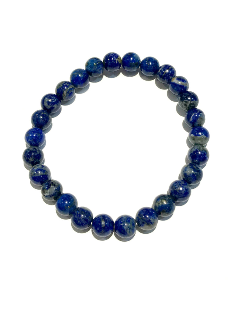 Polished Stone Stretch Bracelets | Lapis Gemstone Beads | Light Years