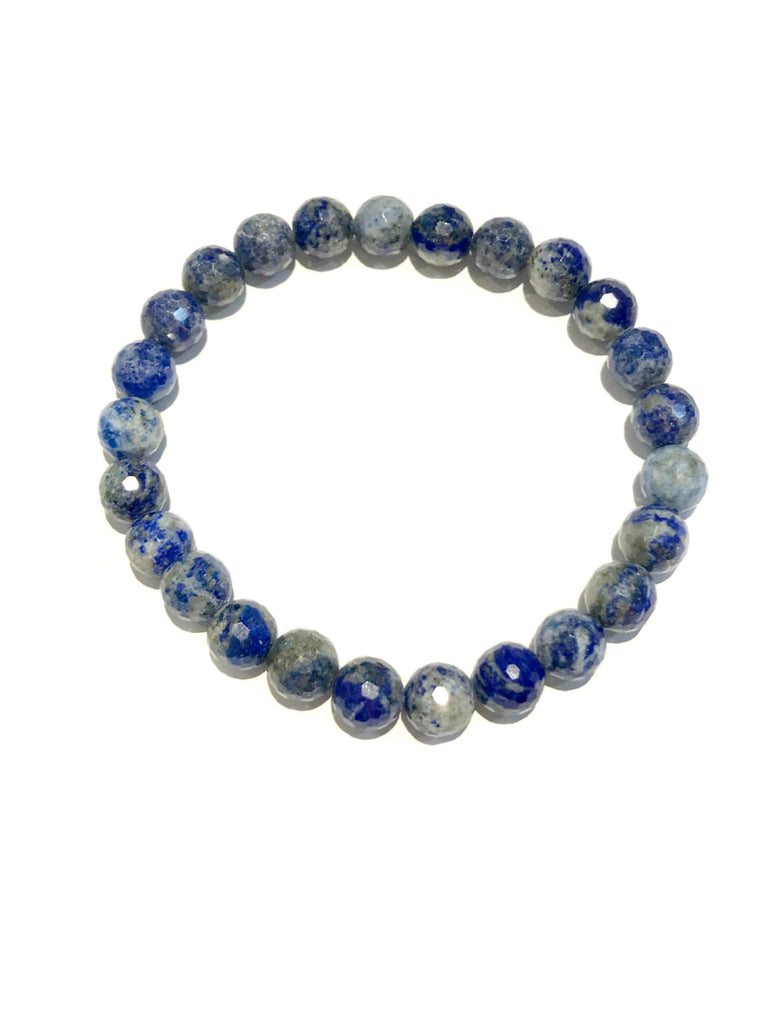 Faceted Gemstone Stretch Bracelets | Lapis Beads | Light Years Jewelry