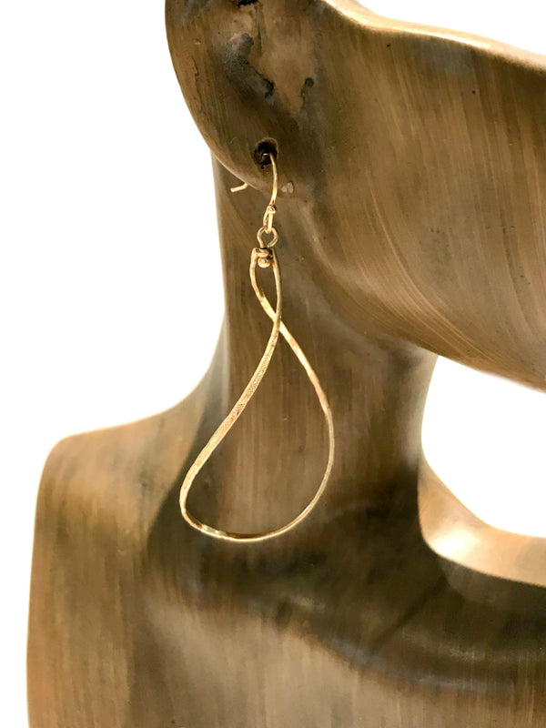 Twisted Teardrop Dangles | Gold Fashion Earrings | Light Years Jewelry