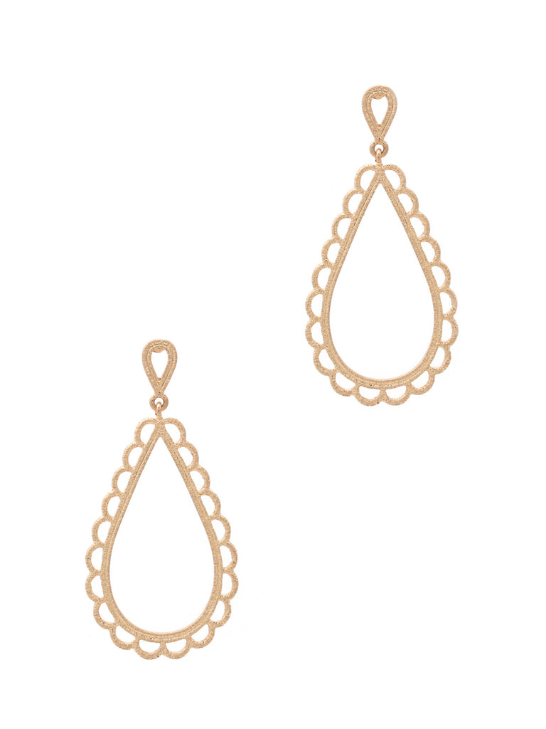 Scalloped Teardrop Posts Earrings | Gold Silver Fashion | Light Years