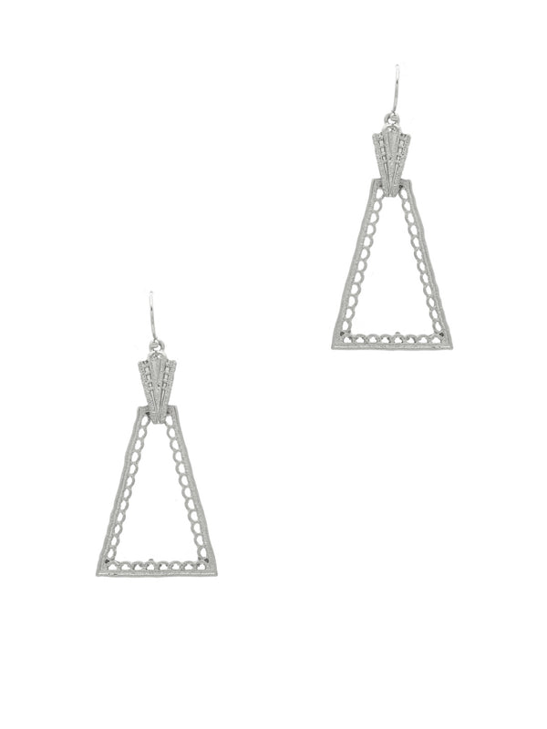 Geometric Deco Statement Dangles | Gold Silver Earrings | Light Years