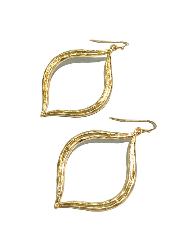 Arabesque Statement Earrings | Gold Fashion Dangles | Light Years