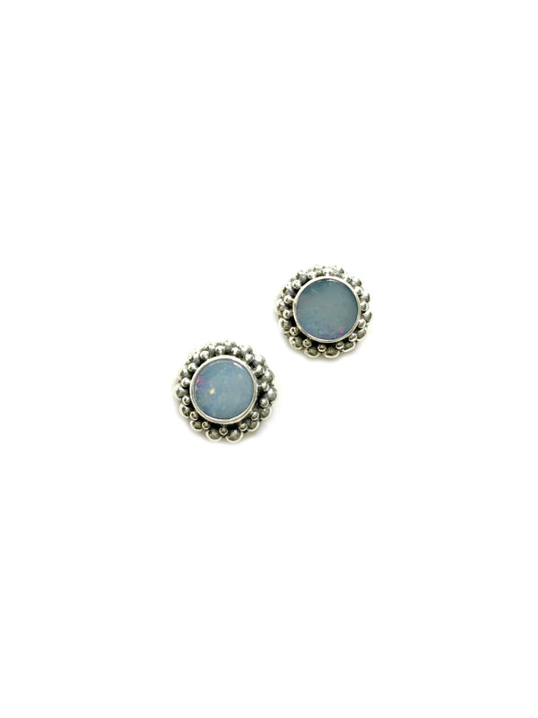 Beaded Opal Posts | Sterling Silver Studs Earrings Bali | Light Years