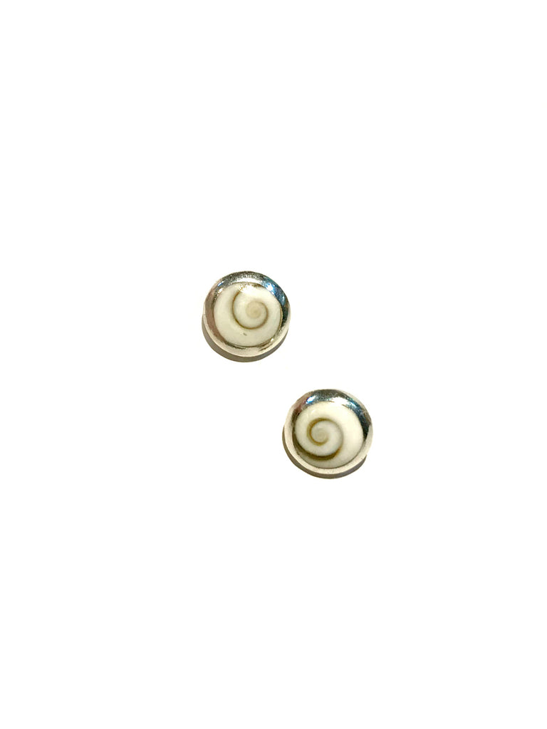Shiva's Eye Shell Posts | Sterling Silver Studs Earrings | Light Years