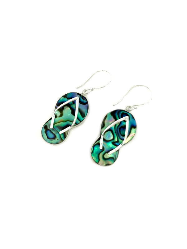 Abalone Flip Flop Dangles | Bali Sterling Silver Earrings | Light Years