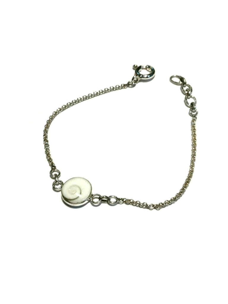 Centered Shiva's Eye Shell Bracelet | Sterling Silver | Light Years