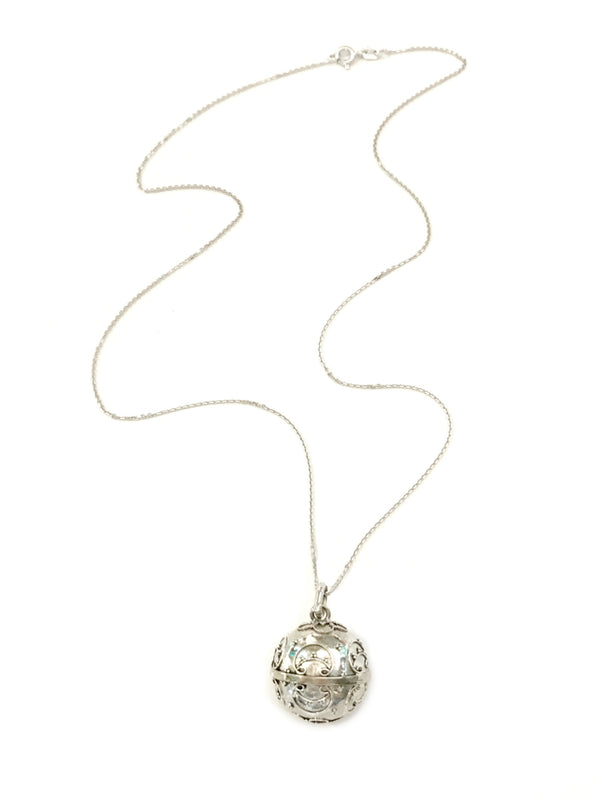 Detailed Harmony Ball Necklace | Sterling Silver Pendant | Light Years