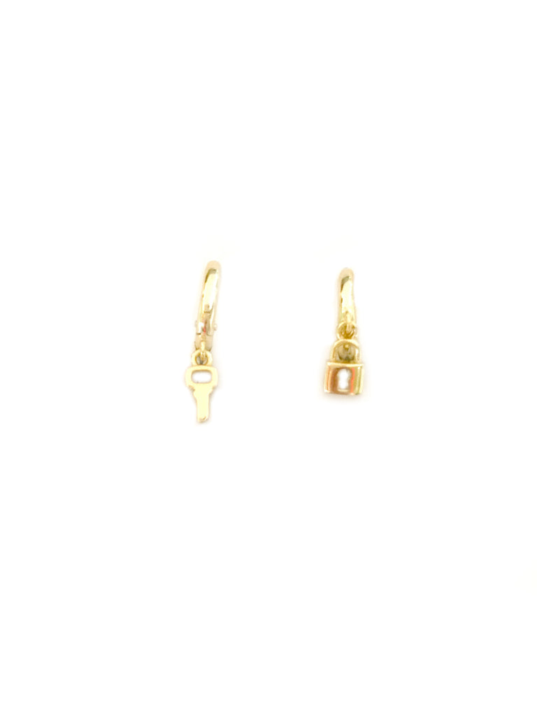 Lock & Key Huggie Hoops | Gold Vermeil Earrings | Light Years