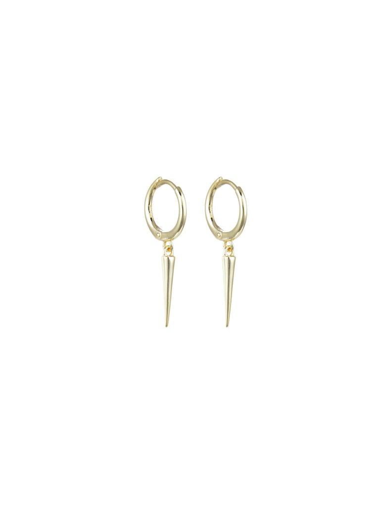 Spike Dangle Huggie Hoops | Gold Vermeil Earrings | Light Years Jewelry