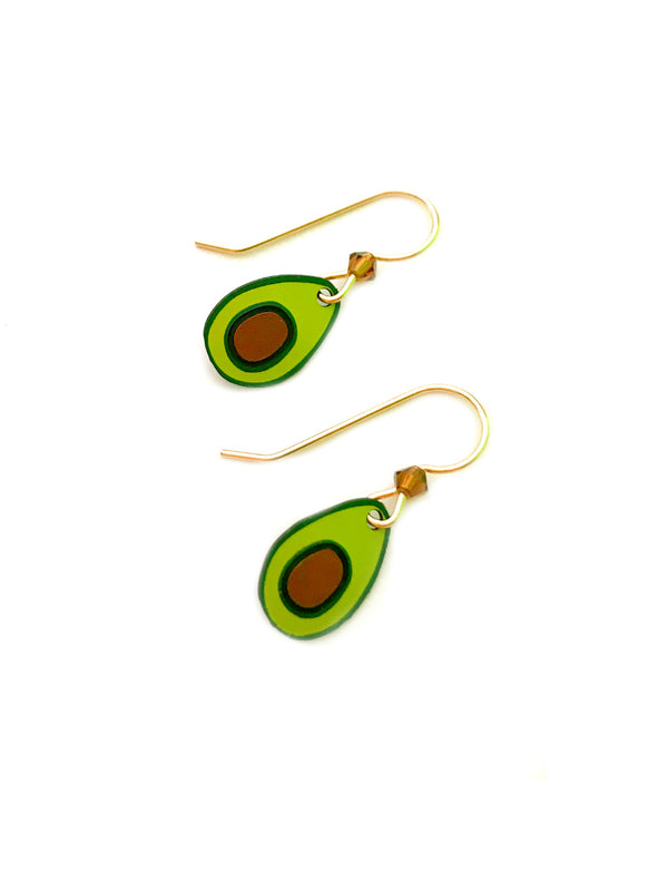 Avocado Dangles by Sienna Sky | 14kt Gold Filled Earrings | Light Years