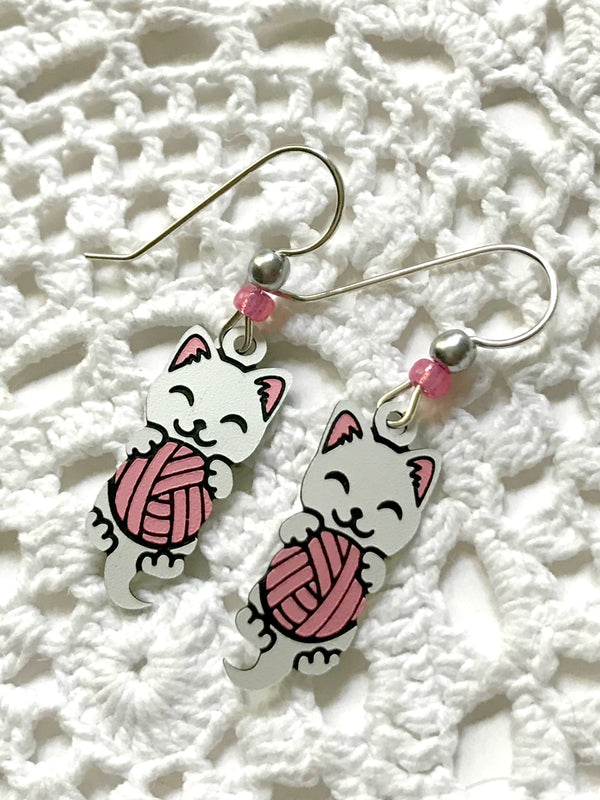 Kitty & Yarn Ball Dangles by Sienna Sky | Sterling Silver | Light Years