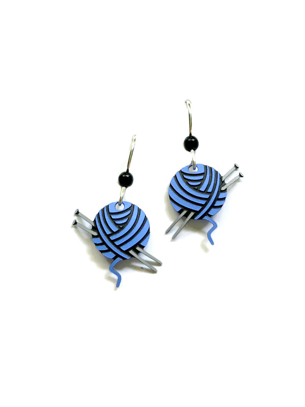 Yarn Ball Dangles Sienna Sky | Sterling Silver Earrings | Light Years