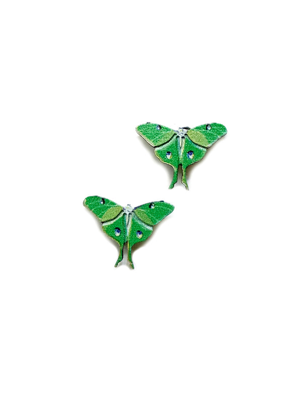 Luna Moth Posts by Sienna Sky | Sterling Silver Studs | Light Years