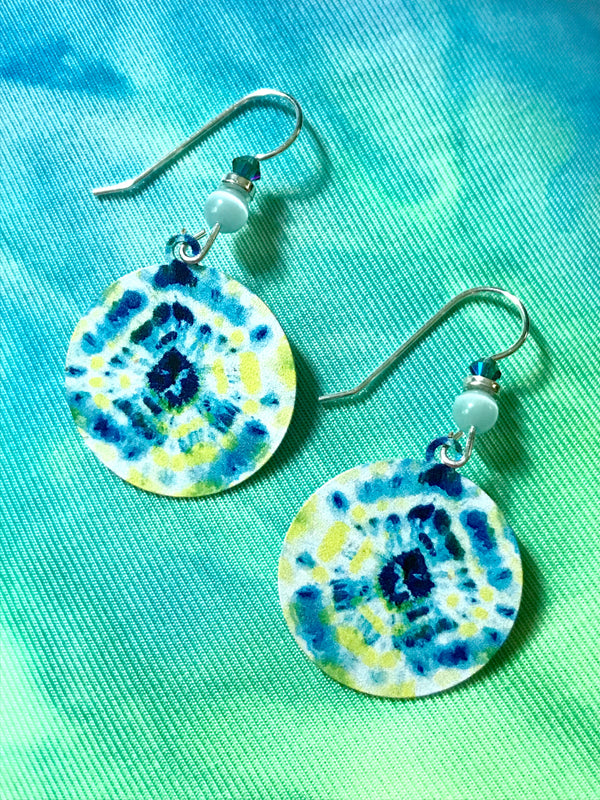 Tie Dye Dangles by Adajio | Sterling Silver Earrings | Light Years