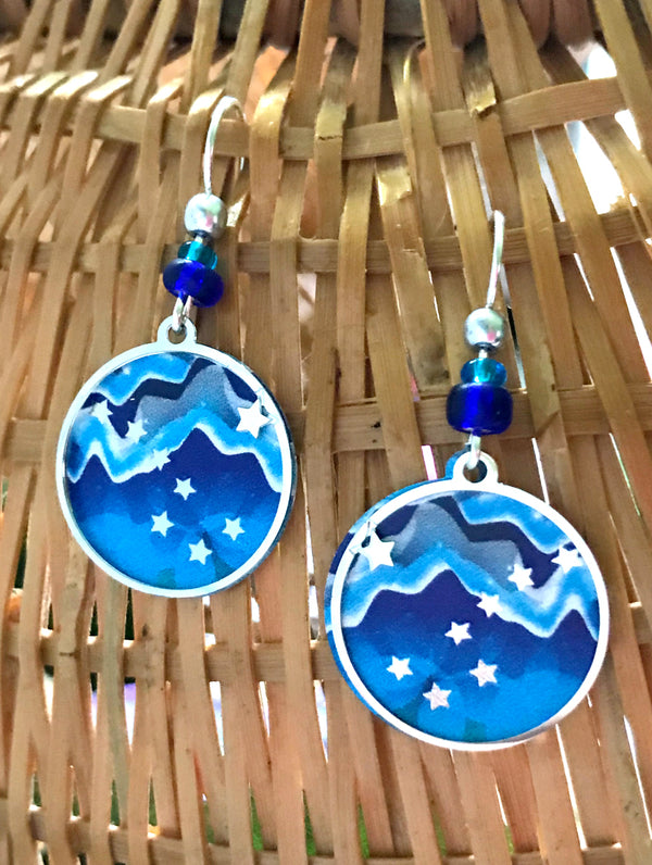 Big Dipper Dangles by Adajio | Sterling Silver Earrings | Light Years
