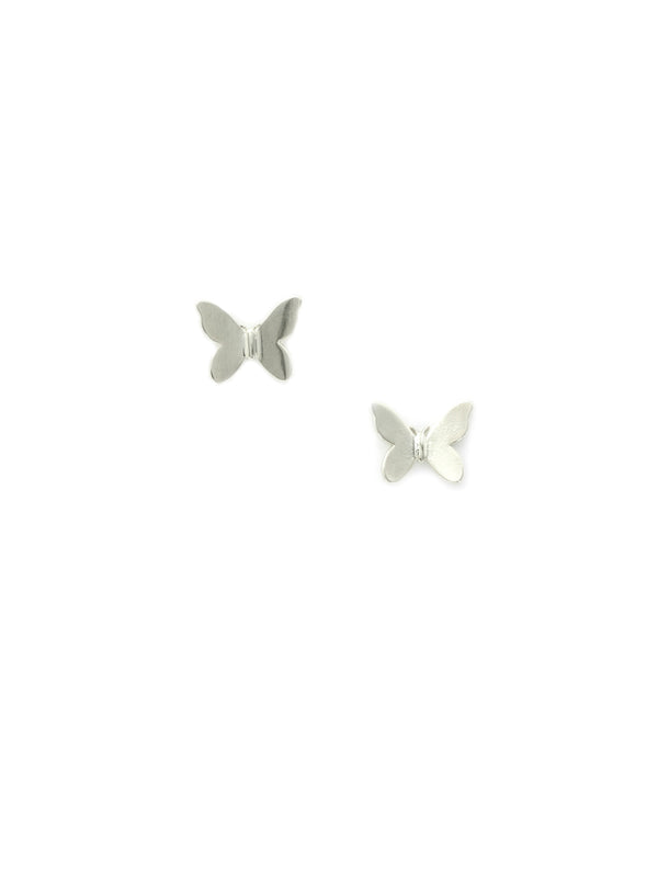 Shiny Butterfly Posts | Gold Silver Plated Studs Earrings | Light Years
