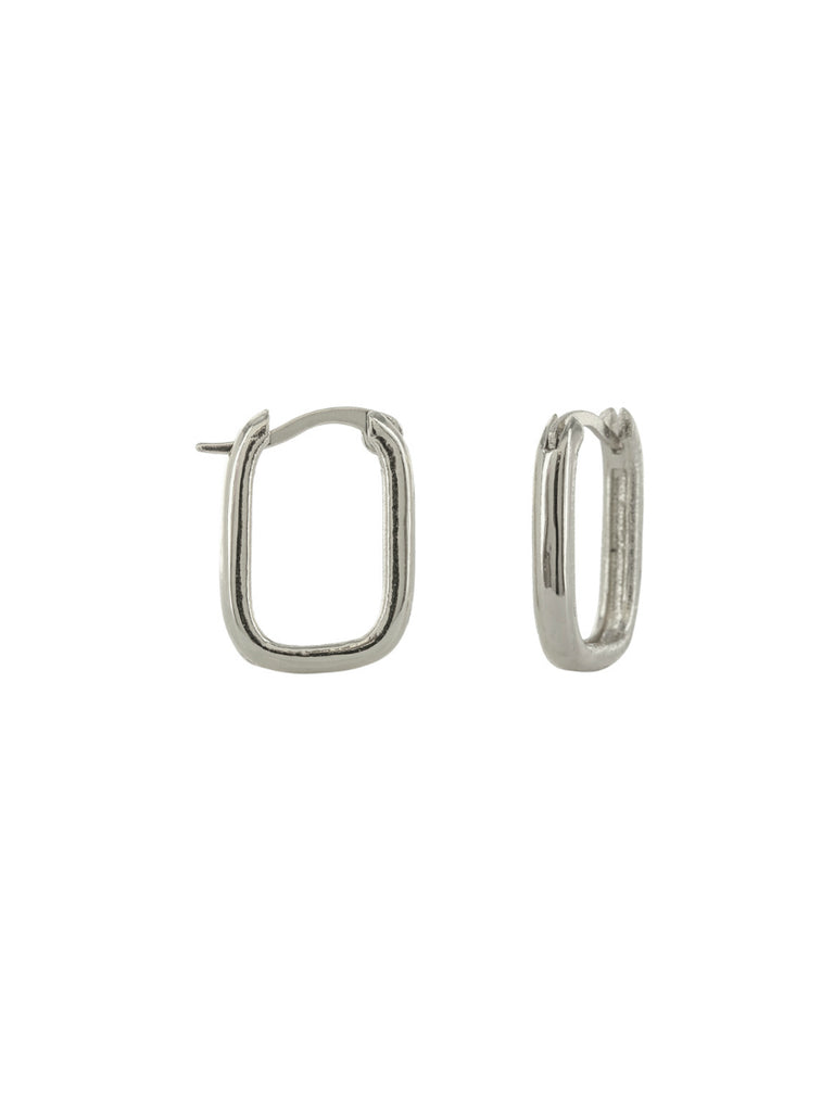 Oblong Rectangle Hoops | Gold Silver Plated | Light Years Jewelry