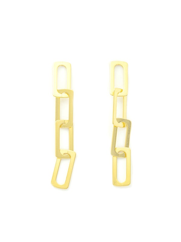Chain Link Statement Earrings | Gold Plated Post | Light Years Jewelry
